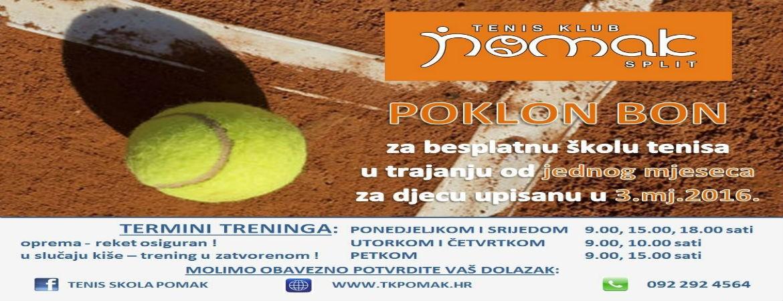 AKCIJA !!! Mjesec dana besplatnog tenisa...